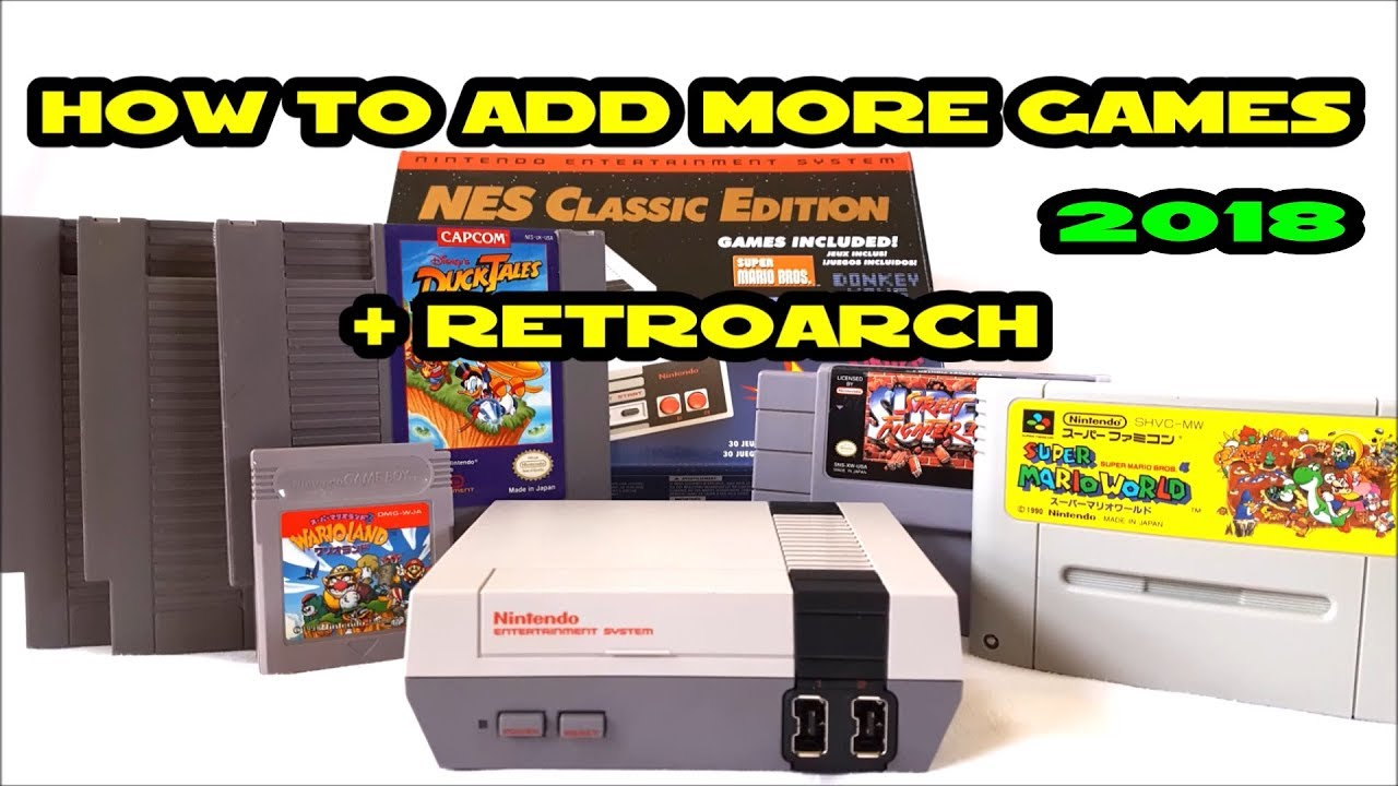 Add 800 + Games NES Classic Edition Mini 2018 Tutorial ...