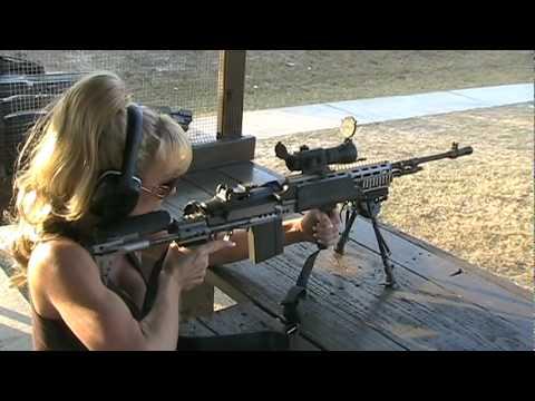 Image result for Blondie Firing Full Auto M14 EBR 7.62 NATO Rifle