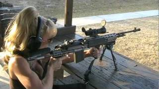 Blondie Firing Full Auto M14 EBR 7.62 NATO Rifle