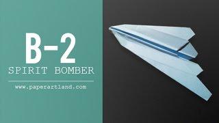 Paper Airplane Test Flight - Spirit Bomber B2