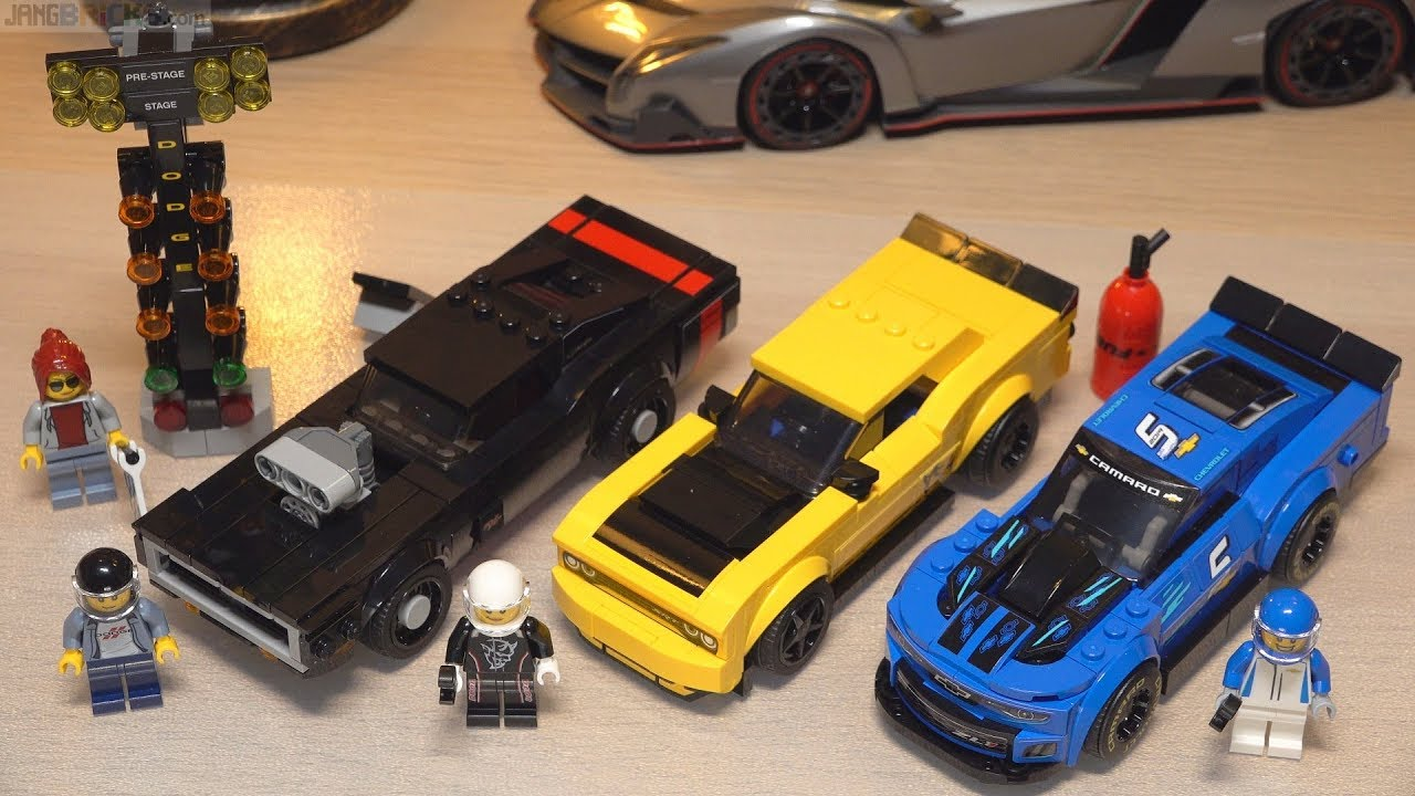 two builds lego speed champions dodge demon charger. Black Bedroom Furniture Sets. Home Design Ideas