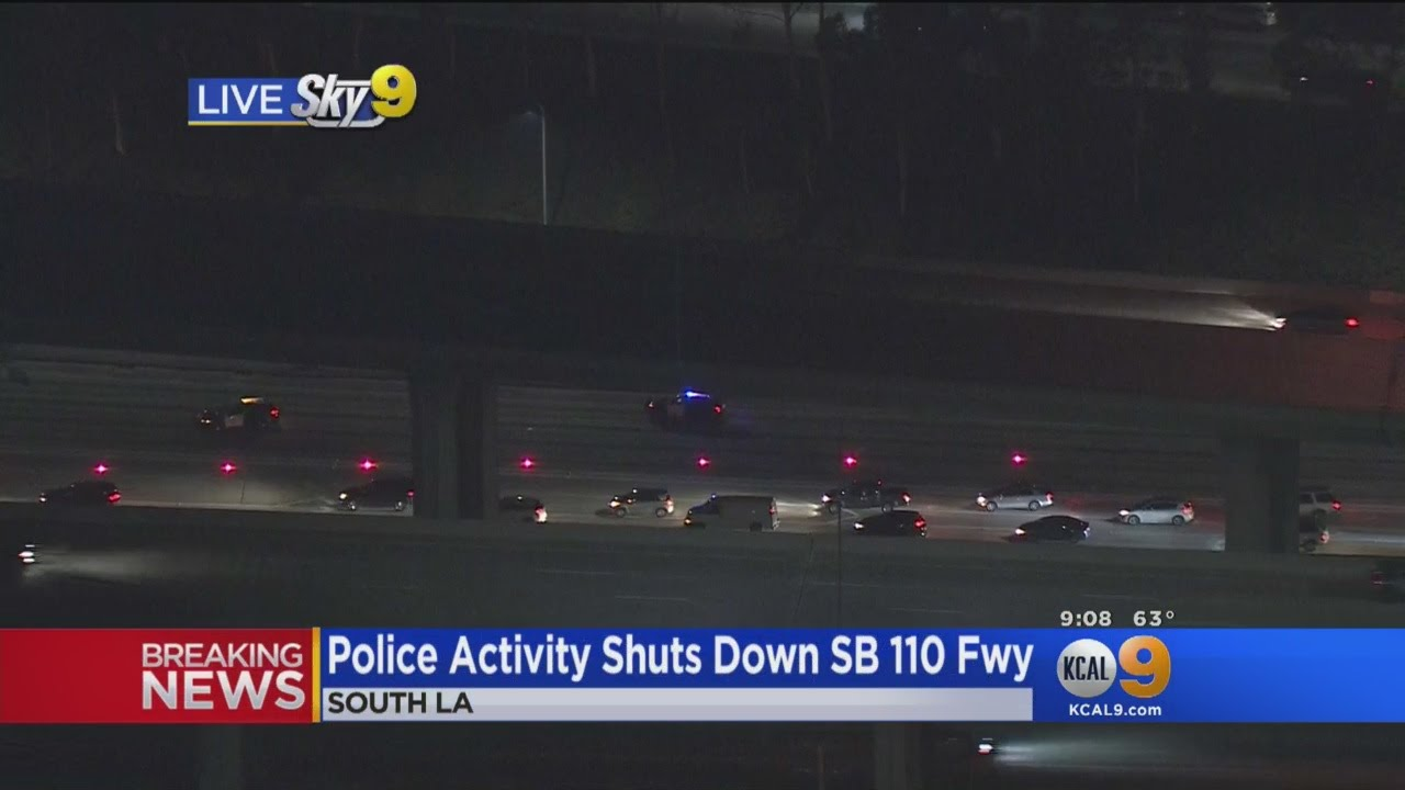 Police Activity Has SB 110 Freeway Shut Down For Miles