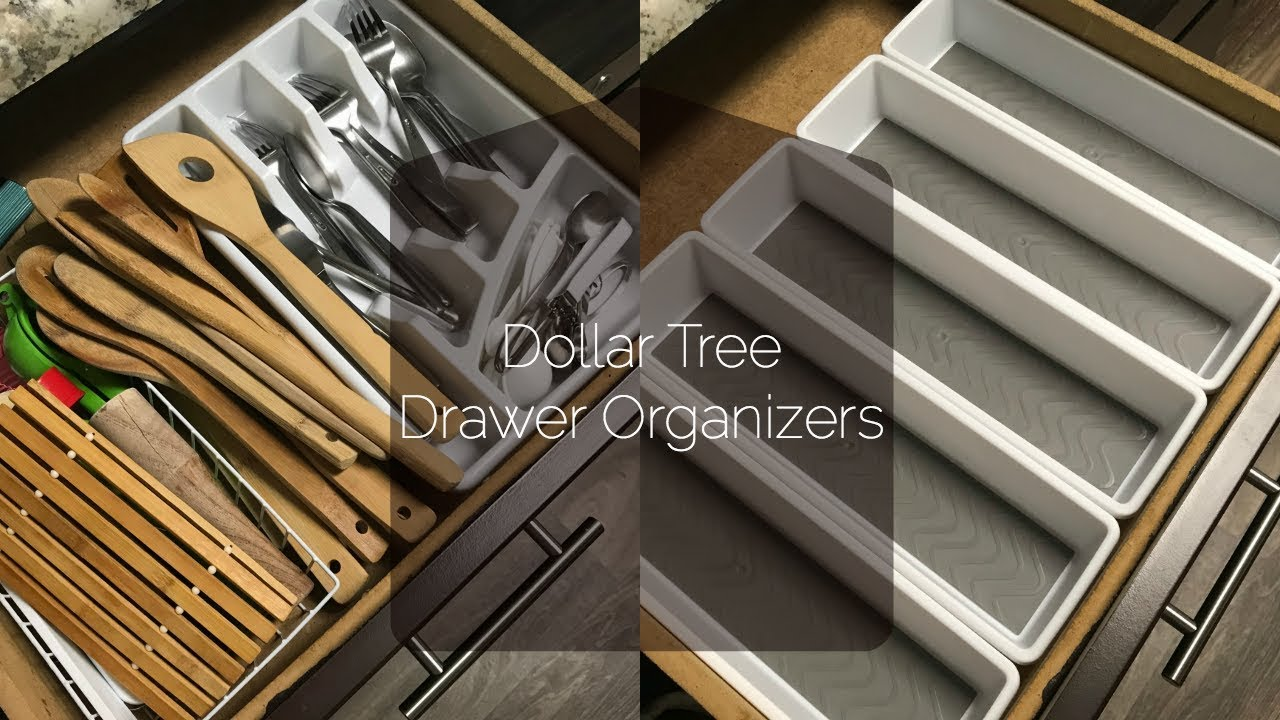 How To Organize Kitchen Drawers | Dollar Tree Drawer Organizers