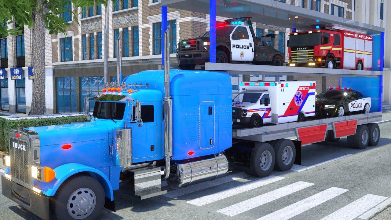 Schulbus Billy transportiert - Wheel City Heroes (WCH) - Sergeant Lucas das Polizeiauto New Cartoon
