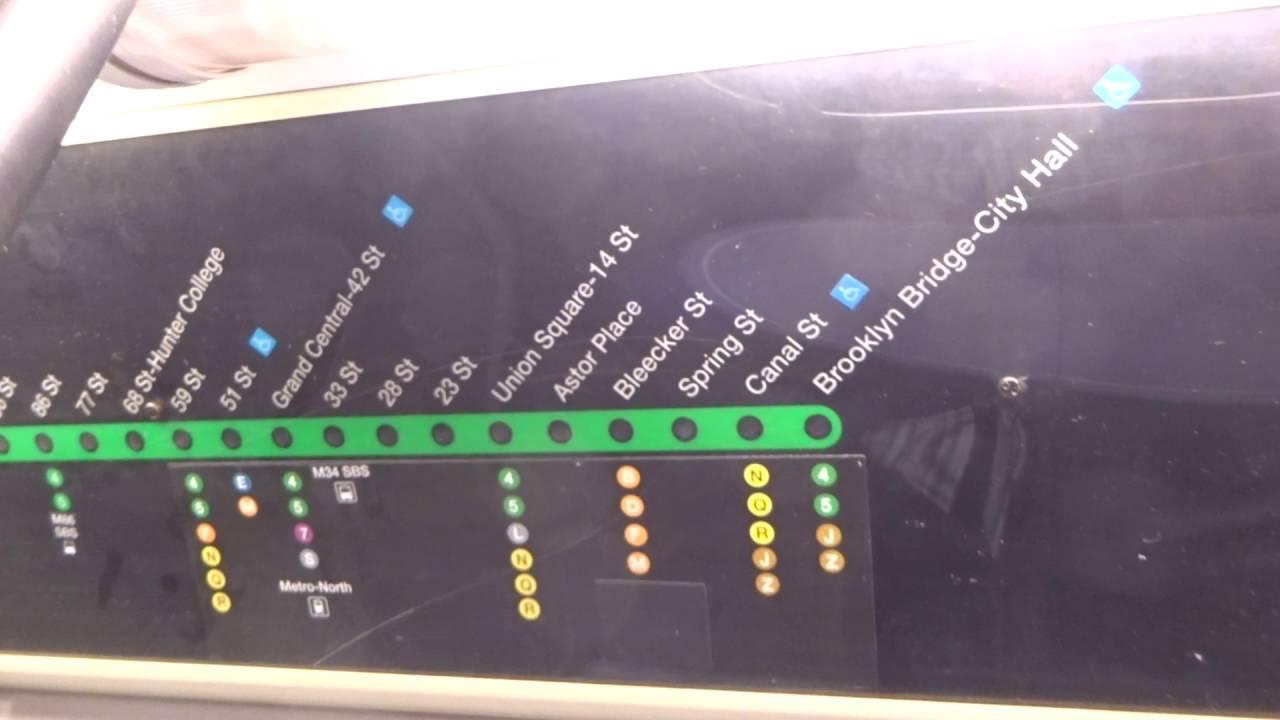 Subway Map Nyc 6 Train.Nyc Subway R142a 6 Strip Map 2016