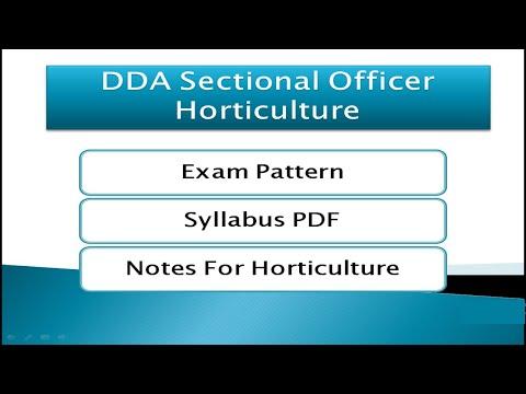 DDA SO Horticulture Exam Syllabus Exam Pattern & Notes | DDA Recruitment 2020 | DDA Vacancy 2020