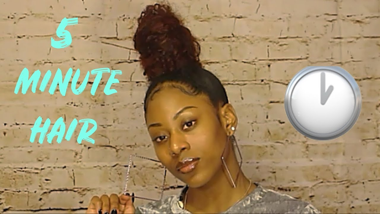 Top Knot/Ninja Bun on 4a Natural Hair | How to Style Old Wash n' Go | frizzeecurlz♡