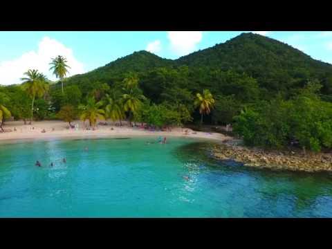 Drone image Martinique beach