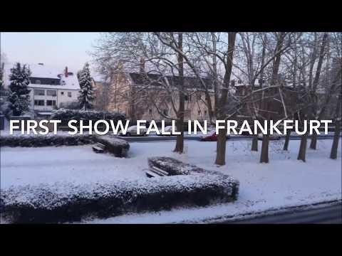 Germany: Snowfall I Schneefall in Frankfurt HD