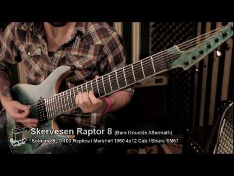 Three 8 Str. Guitars Shootout - Ibanez RG2228, Skervesen Raptor 8, Schecter Hellraiser C-8