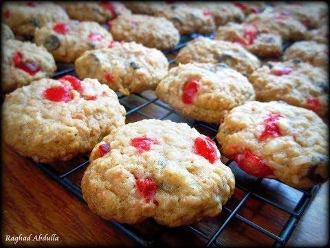 Chewy Oat Cherry Cookies