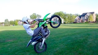 CRAZY DIRT BIKE WHEELIE!
