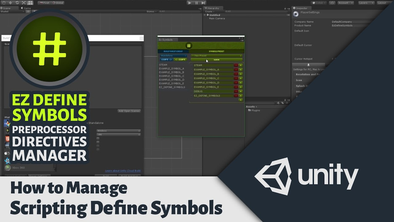 How to Manage Scripting Define Symbols in Unity - Preprocessor Directives  Manager for Unity