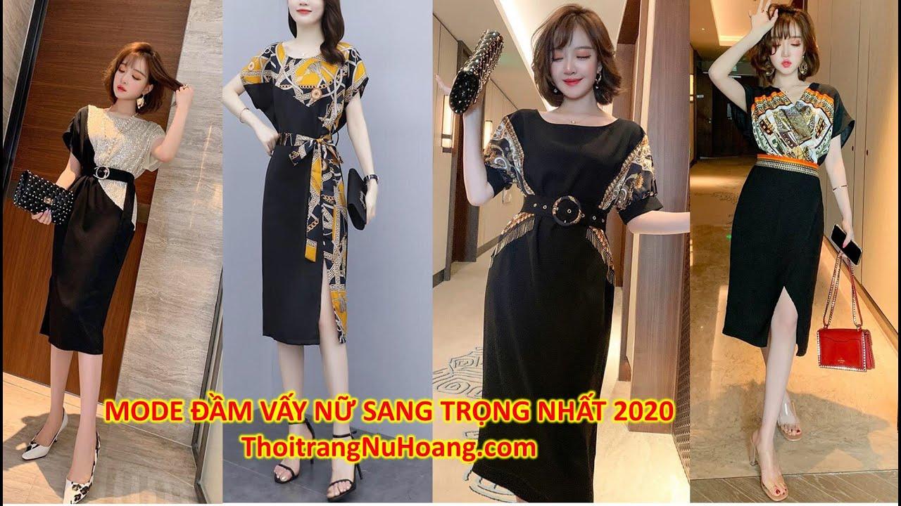 Xu hướng thời trang nữ 2020 | Mode Đầm dự tiệc cưới, đầm nữ đẹp kiểu suông form rộng kèm nịt