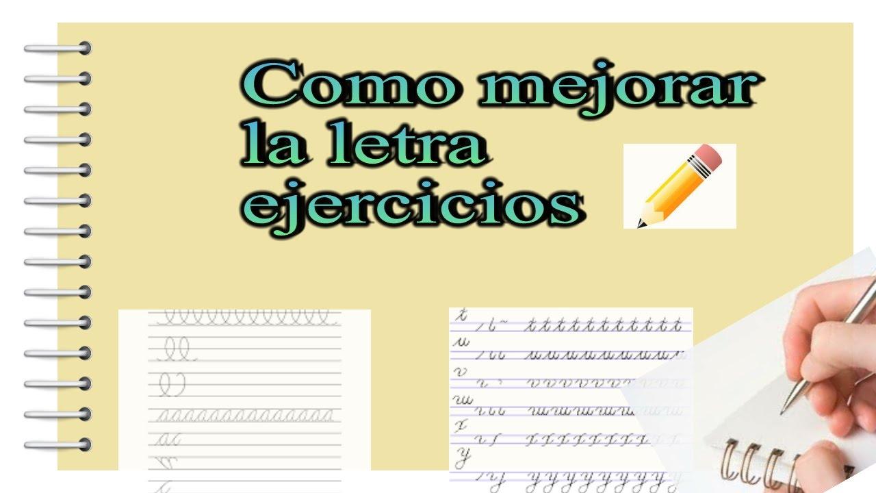 Como mejorar mi letra ejercicios escritos youtube - Como mejorar la caligrafia ...