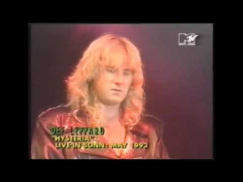 live from Bonn 1992, hysteria and pour some sugar (MTV def leppard sunday)