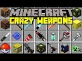 Minecraft CRAZY WEAPONS MOD! | OVERPOWERED WEAPONS, TROLL ITEMS, & MORE! | Modded Mini-Game