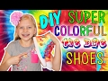 Project MC2 DIY Tie-Dye Shoes