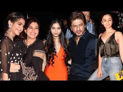 Full Video: Shah Rukh Khan With Daughter Suhana And Son Aryan At Gauri Khan's Restaurant Launch