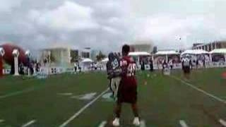 NFL QB Challenge 2007: Brandon Lloyd catching passes