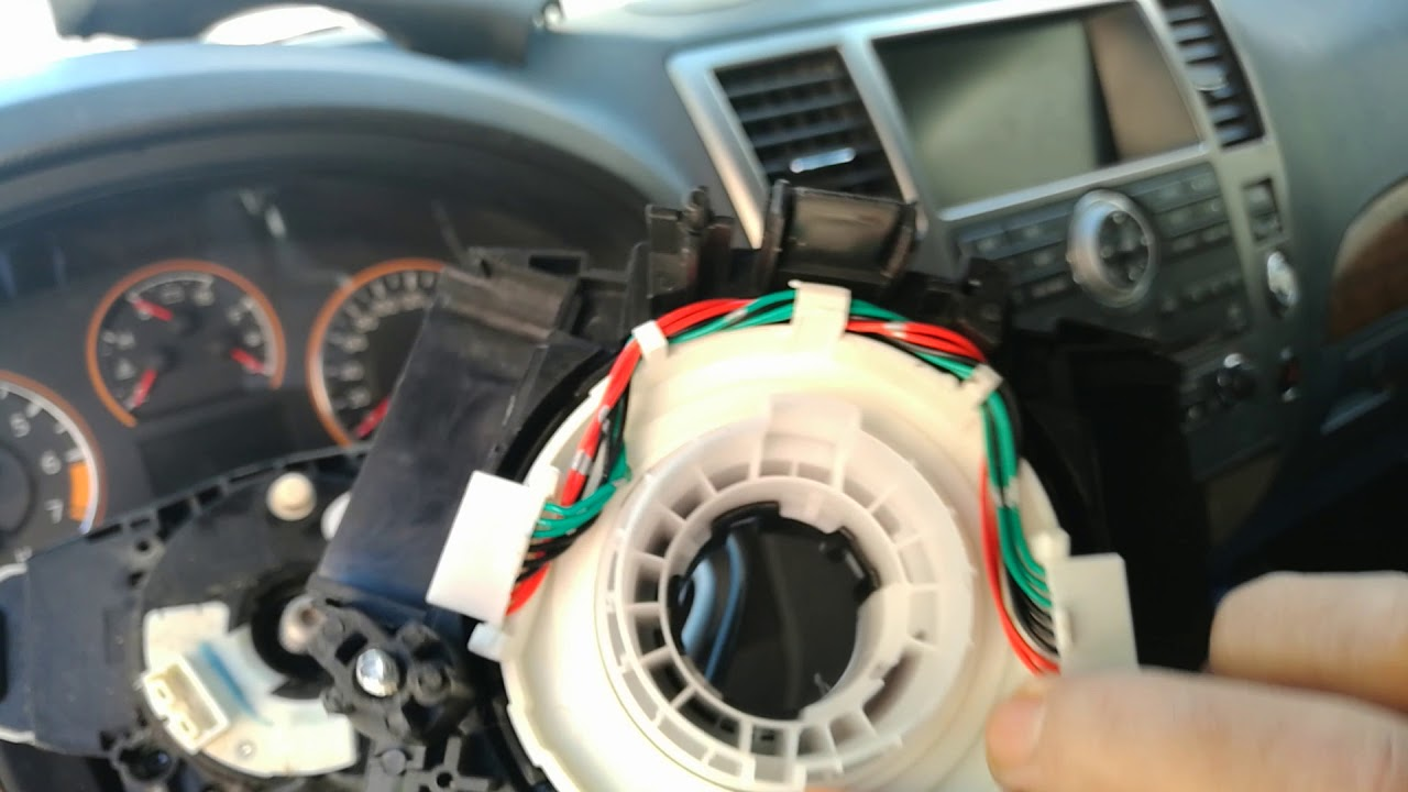 how to replace a defective steering wheel spiral cable for nissan armada 2008 2012 [ 1280 x 720 Pixel ]