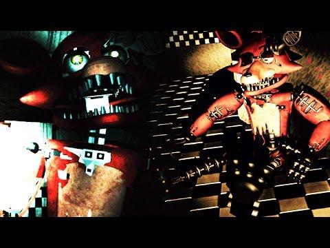 CHASED BY 3D FOXY + HIDDEN ANIMATRONIC | OverNight 2 (Free Roam FNAF) #2