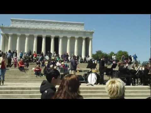 Blue Valley Northwest High School Performs at the Lincoln Memorial 04/06/2013