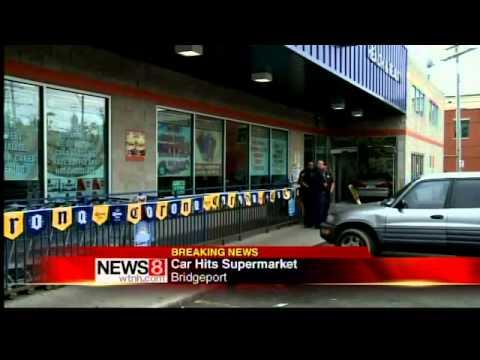 Car Crashes Into Bridgeport Market