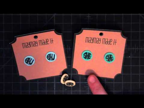 Monogram Earrings Product Update for Punch Place Plus