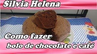 Bolo de chocolate com café – POR SILVIA HELENA