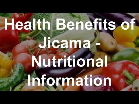 Health Benefits of Jicama Nutritional Information