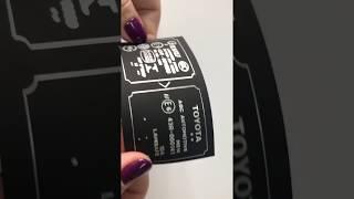видео Печать с тиснением