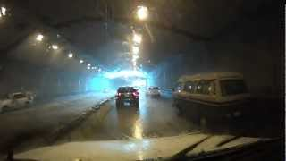 Presidio Parkway tunnel fire suppression system in action
