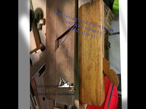 Restoring wooden moulding and bench planes.