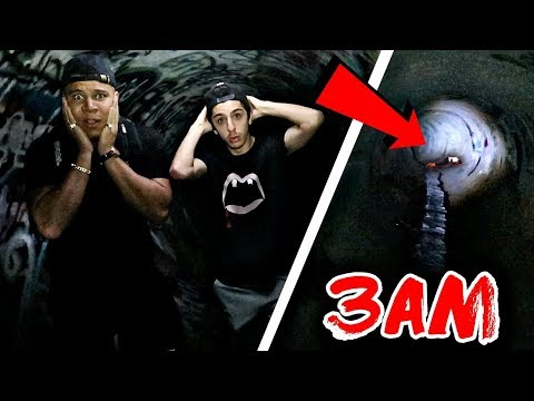 EXPLORING FAZE RUG HAUNTED TUNNEL (WE HEARD VOICES)