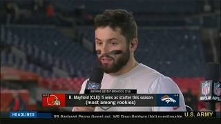 NFL Network Special US Army Post Game Show 2018 CLE@DEN