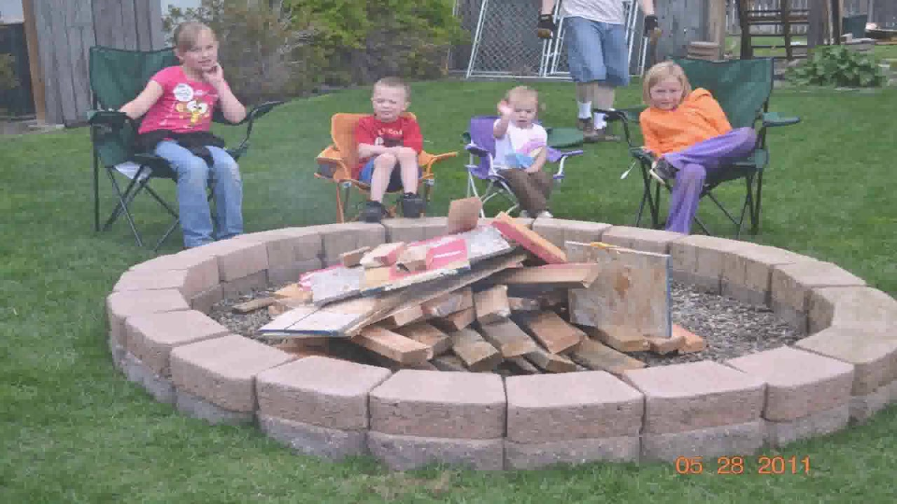 How To Build Outdoor Wood Burning Fire Pit - YouTube