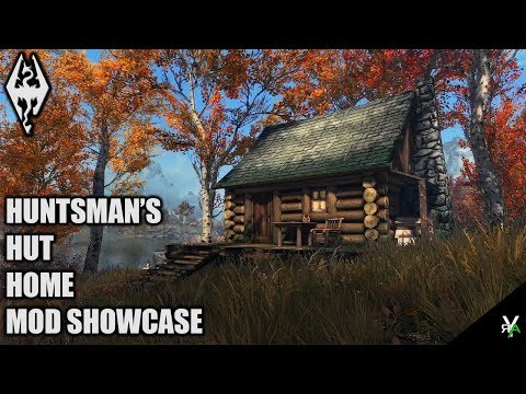 HUNTSMAN'S HUT: Beautiful Cabin Player Home- Xbox Modded Skyrim Mod Showcase thumbnail