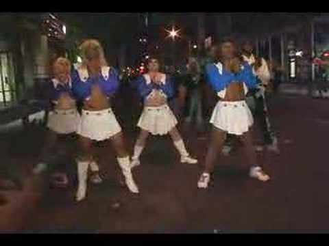 dallas cowboy chearleader mctv show nyc halloween parade - Dallas Halloween Parade