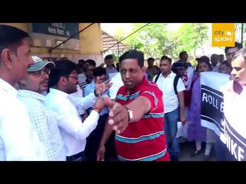 Parents of  Bal Bharti School and ANSPA members protest