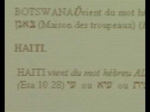 V5  In Africa we  speak the ancient hebrew - Les africains parlent l' hebreux ancient
