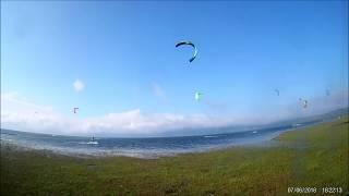Spots de kitesurf, pantano del ebro.