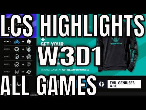 Download LCS Highlights ALL GAMES W3D1 Summer 2021