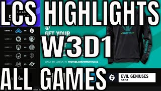 LCS Highlights ALL GAMES W3D1 Summer 2021