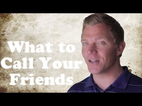 Bro, Dude, Man, Buddy | What to Call Your Friends | Native English Teacher .NET