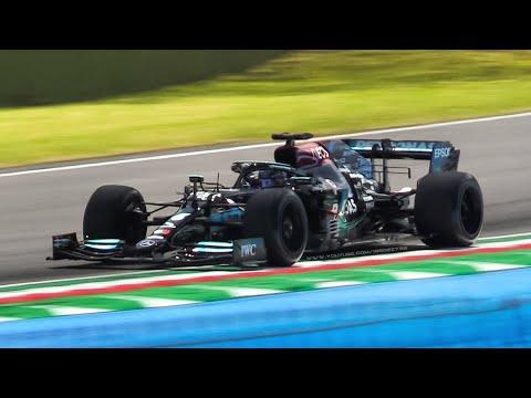 2019 Mercedes-AMG W10 w/ 2022 Pirelli 18-inch Prototype Tyres Testing at Imola!