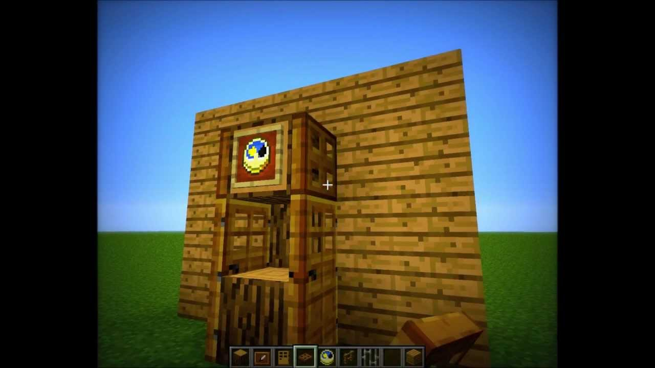 Minecraft Grandfather Clock Tutorial Youtube
