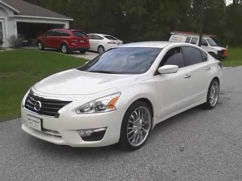 White Nissan Altima 2017 >> 2015 Nissan Altima S on RIMS - YouTube
