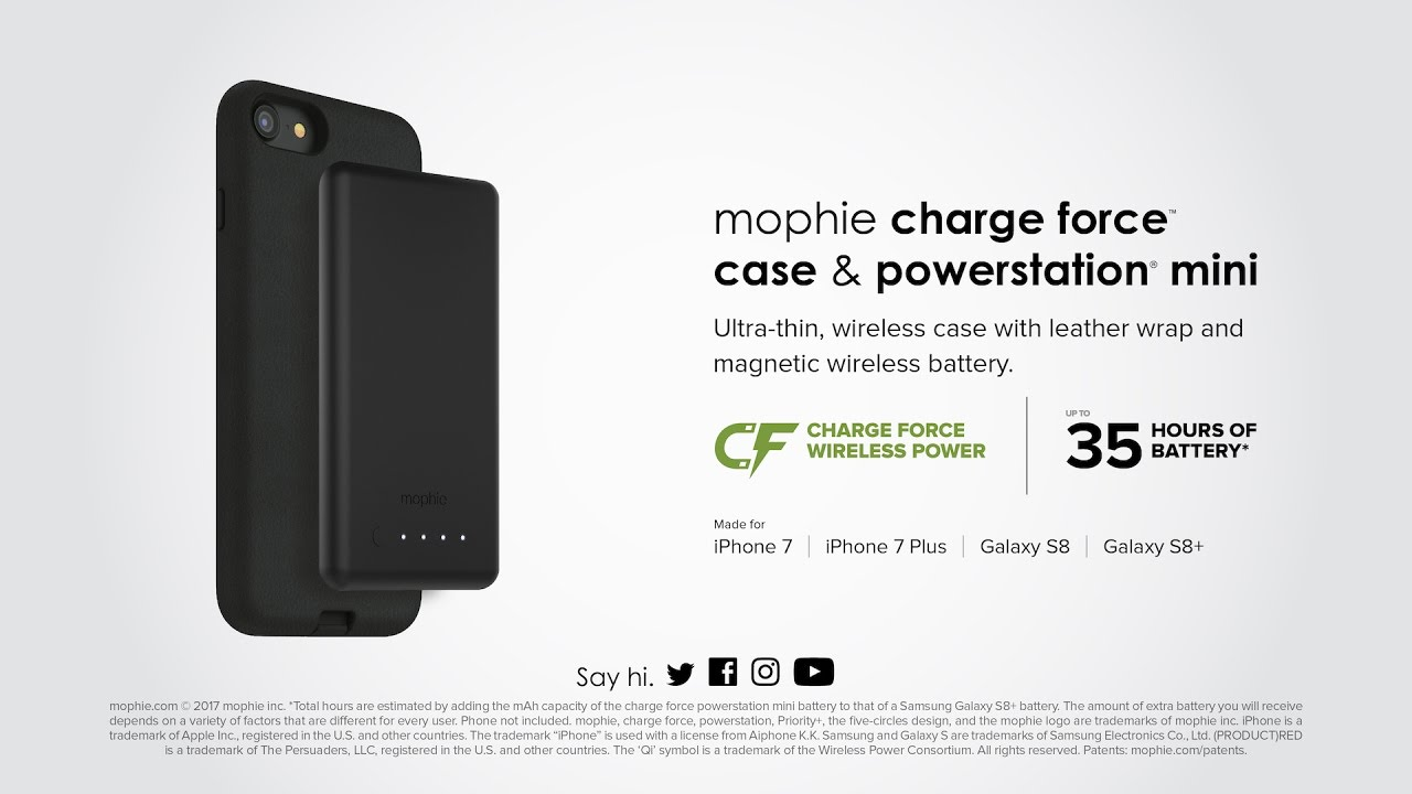 hot sale online 9cece e958b charge force case & powerstation mini for iPhone 7 & Galaxy S8