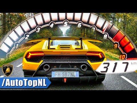 Lamborghini Huracan Performante ACCELERATION 0-317km/h LAUNCH CONTROL by AutoTopNL